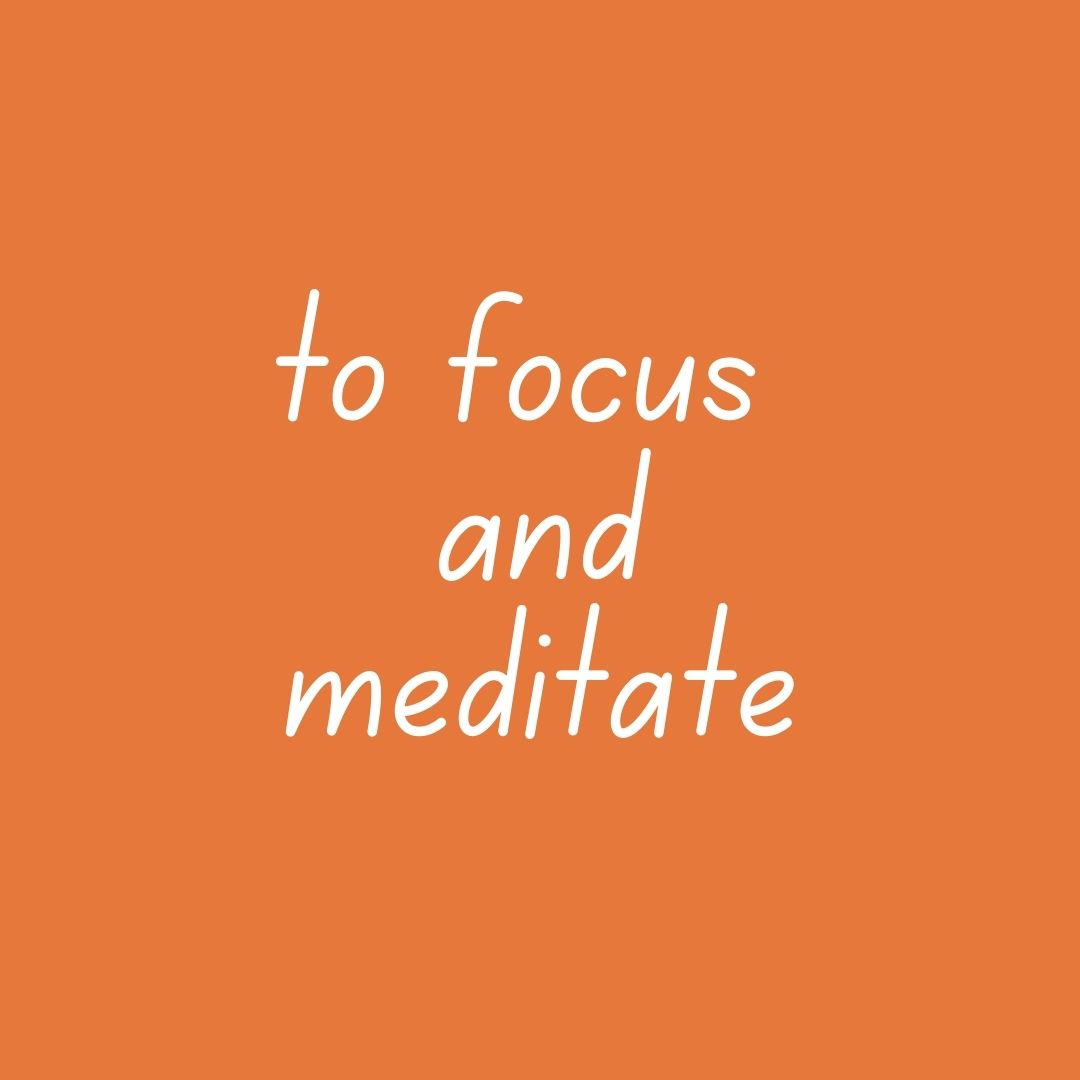 a DIP o'clarity - to focus & meditate