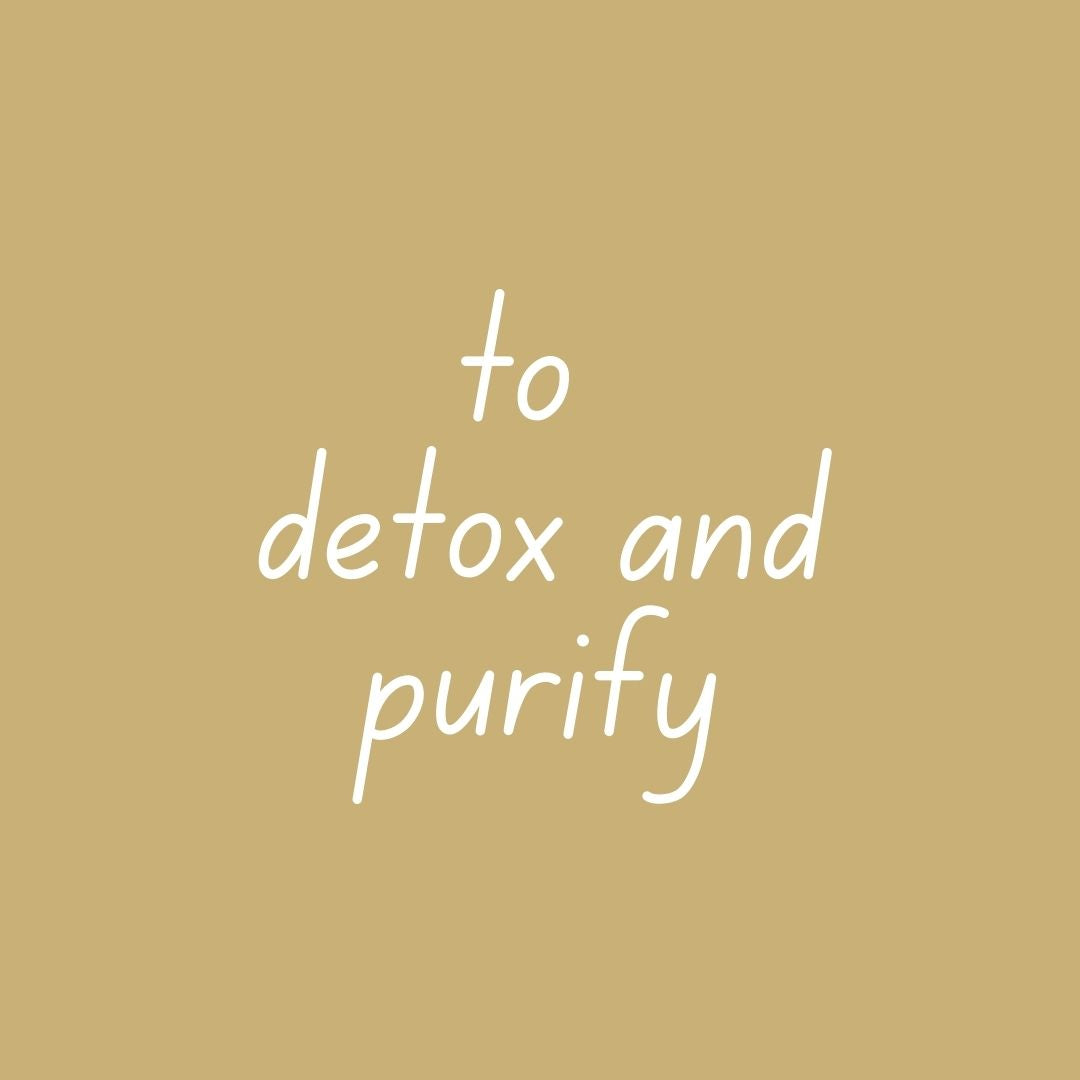 on a BATH-tox - to detox & purify