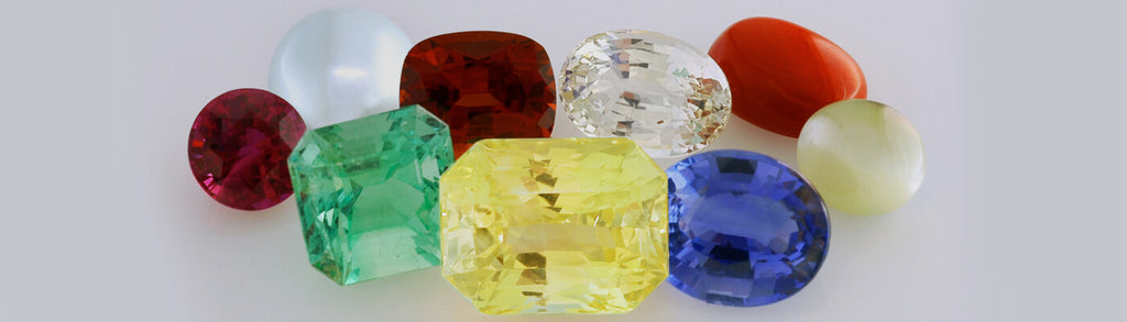 different types of polished precious gems crystals and stones