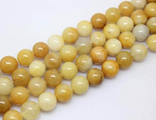 different shades of yellow smooth beads lined straight diagonally