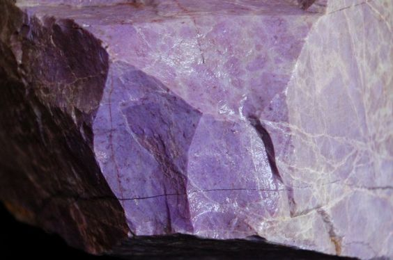 lavender and purple rock texture close up view