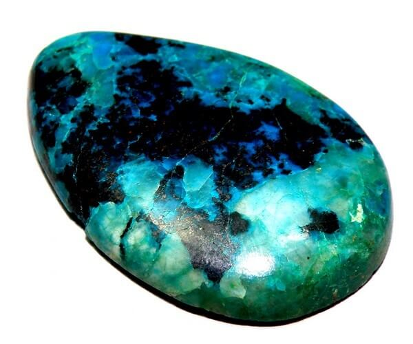 oval shaped turquoise black spot smooth gem stone