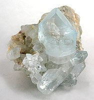 raw unpolished clear crystal geode white background