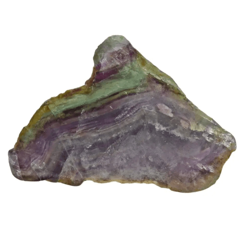 raw fluorite rock close up view showing detail with greenish color
