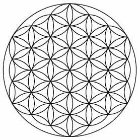 diagram of crystal grid black and white