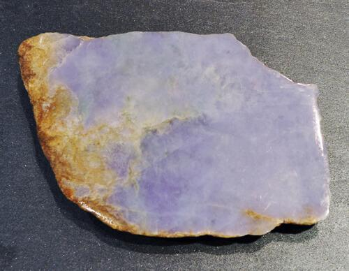 slab of raw lavender jade top close up view