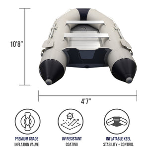 Inflatacraft Aluminum Dinghy Boat 10.8 Foot