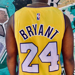 RETRO LA LAKERS YELLOW BASKETBALL JERSEY - BRYANT 24