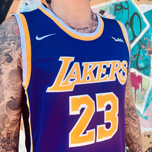 LA LAKERS PURPLE BASKETBALL JERSEY - LEBRON JAMES 23