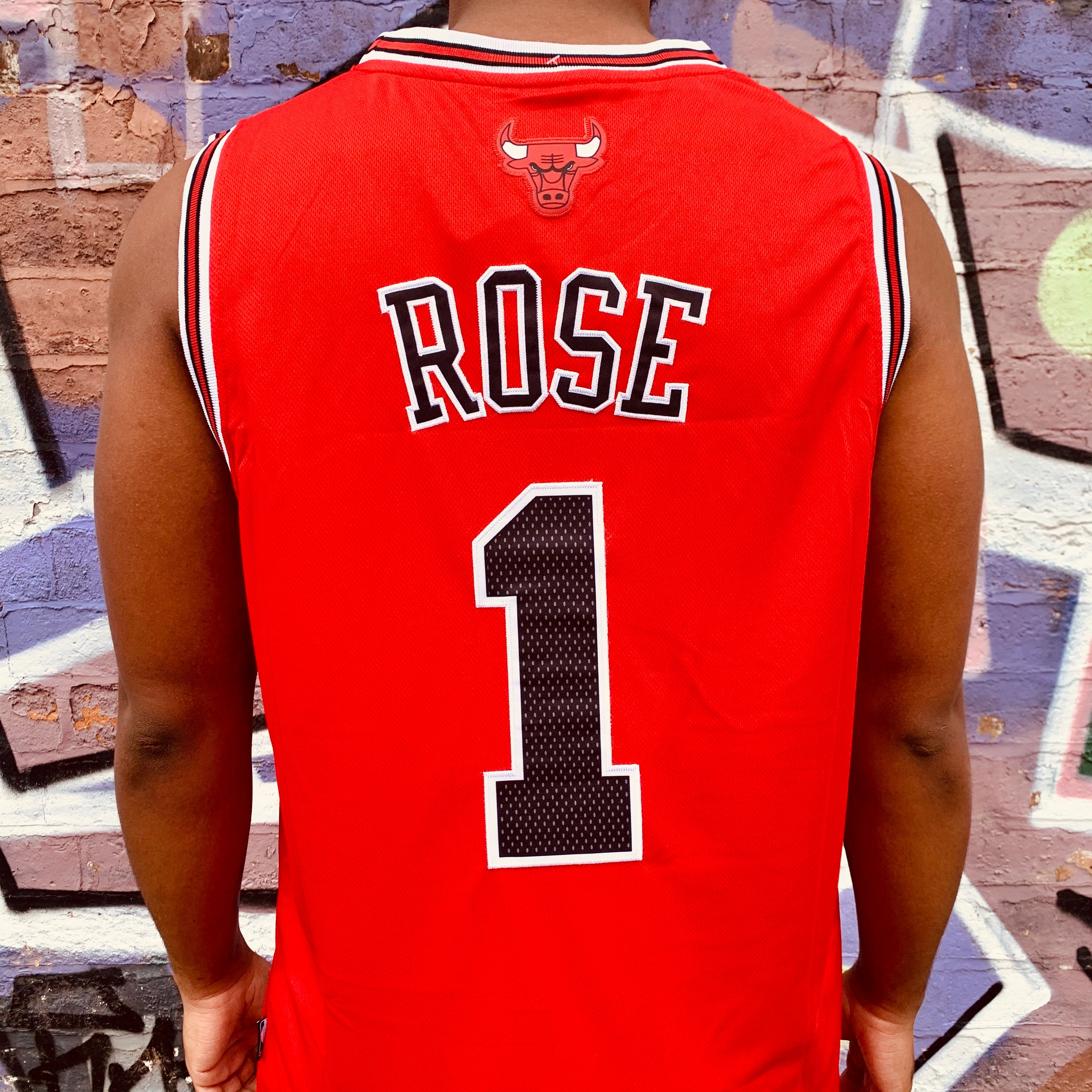 CHICAGO BULLS RED BASKETBALL JERSEY - DERRICK ROSE 1