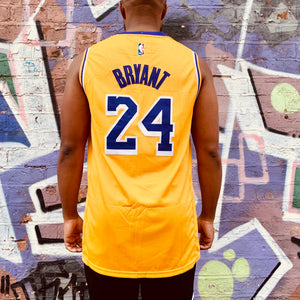 LA LAKERS YELLOW BASKETBALL JERSEY - KOBE BRYANT 24