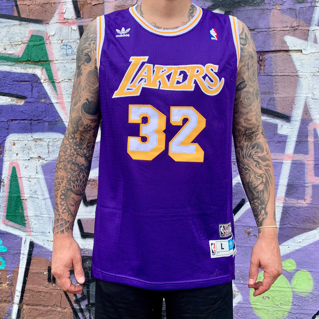 RETRO LA LAKERS YELLOW BASKETBALL JERSEY - MAGIC JOHNSON 32