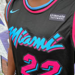 MIAMI HEAT MIAMI VICE EDITION BLACK BASKETBALL JERSEY - JIMMY BUTLER 22