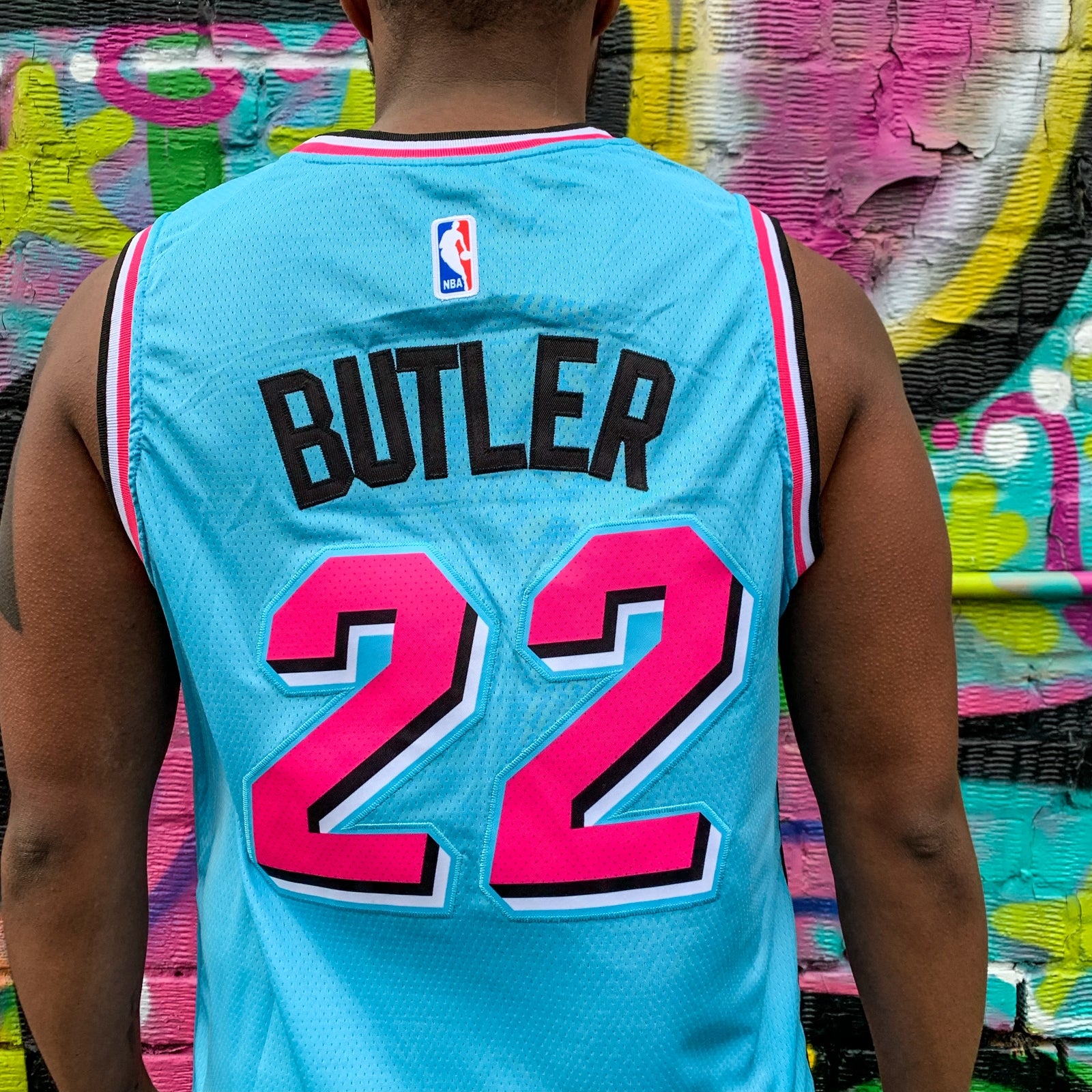 MIAMI HEAT MIAMI VICE EDITION BLUE BASKETBALL JERSEY - JIMMY BUTLER 22