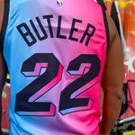 MIAMI HEAT CITY BLUE/PINK EDITION JERSEY - JIMMY BUTLER 22