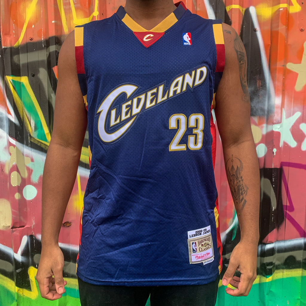 THROWBACK CLEVELAND CAVALIERS BLUE BASKETBALL JERSEY- LEBRON JAMES 23