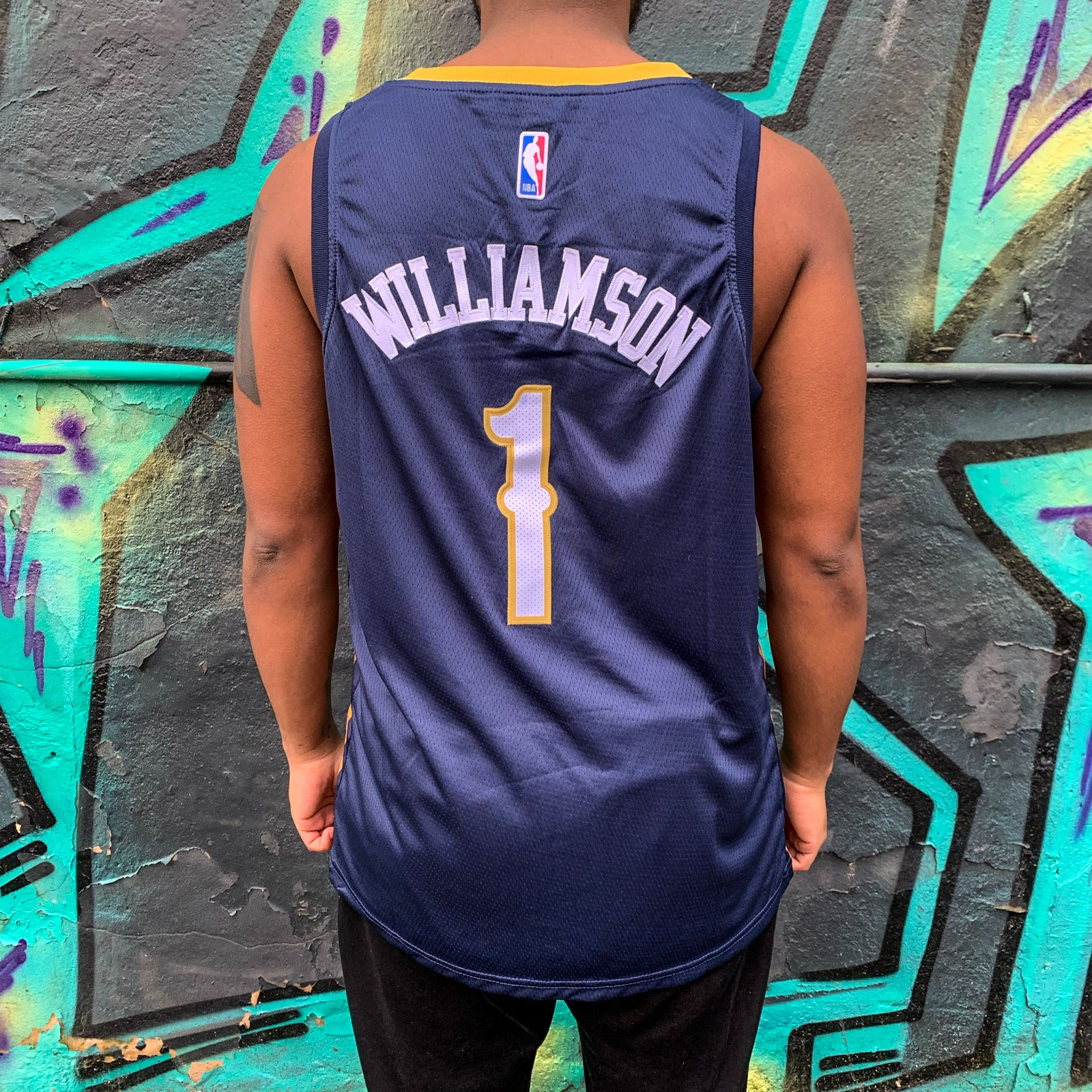 NEW ORLEANS PELICANS BLUE BASKETBALL JERSEY - ZION WILLIAMSON 1