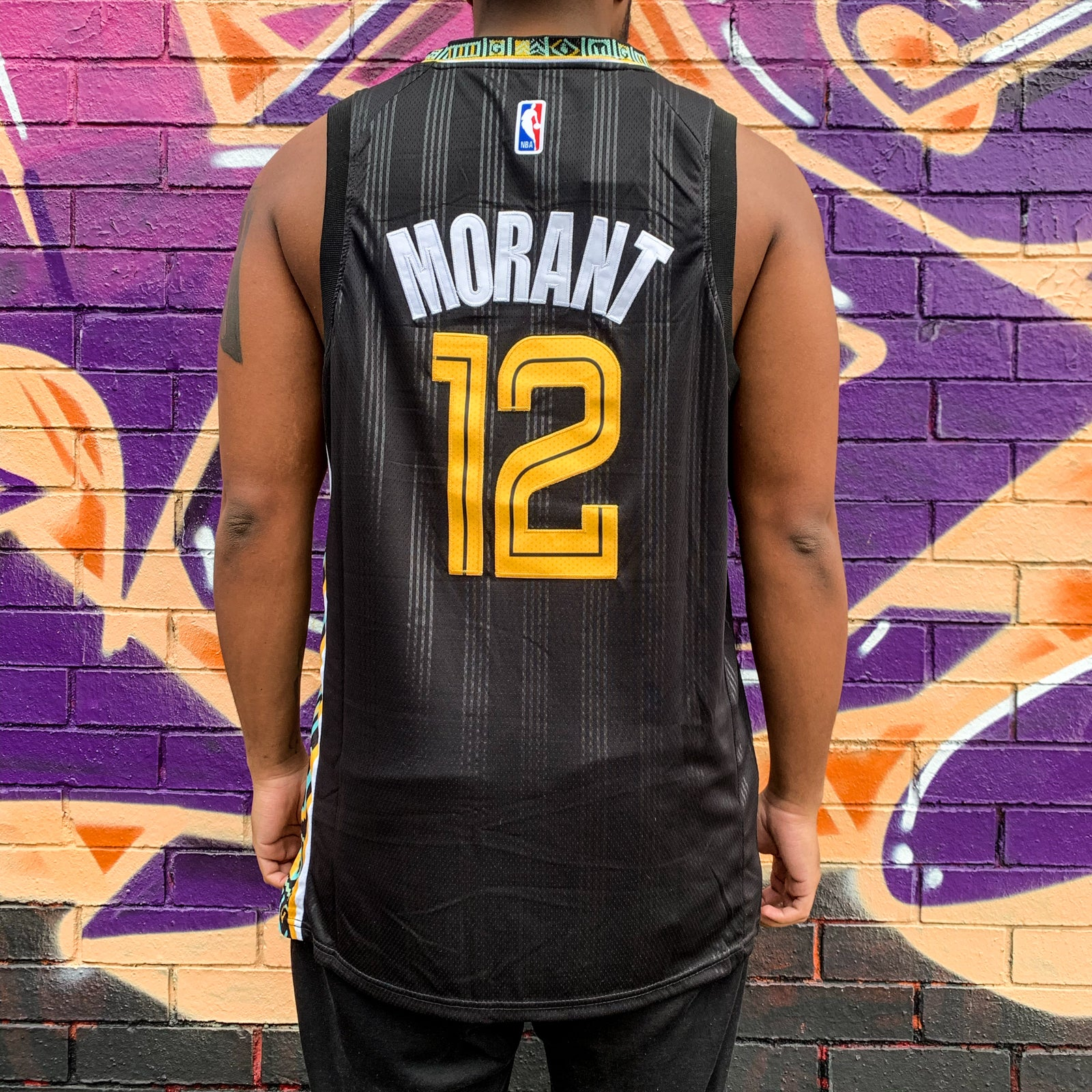 MEMPHIS GRIZZLIES BLACK CITY EDITION JERSEY - JAMEL MORANT 12