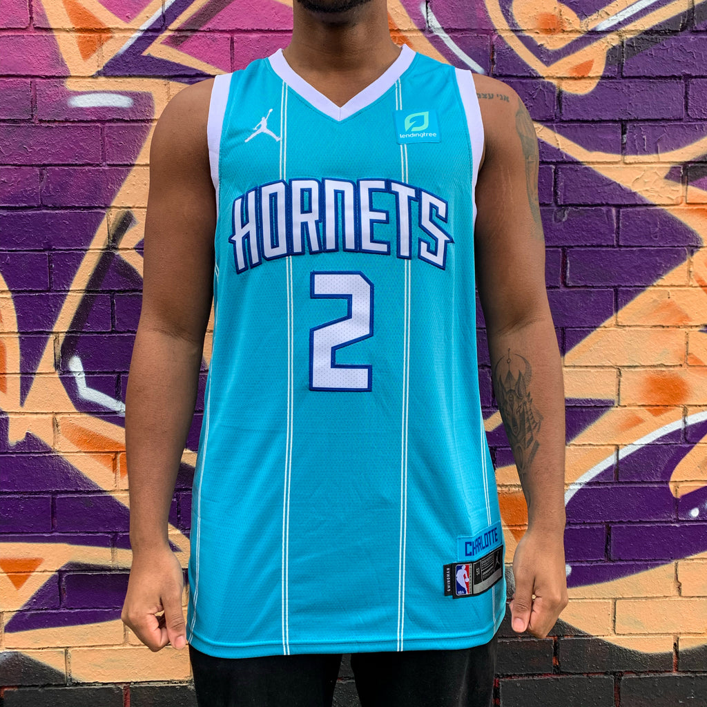 CHARLOTTE HORNETS MINT GREEN BASKETBALL JERSEY - LAMELO BALL 2