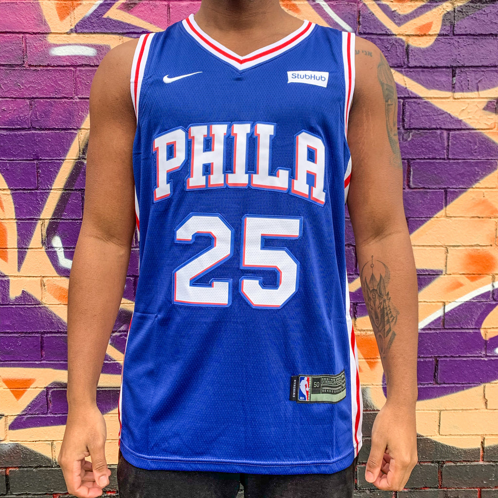 PHILADELPHIA 76ers BLUE BASKETBALL JERSEY - BEN SIMMONS 25