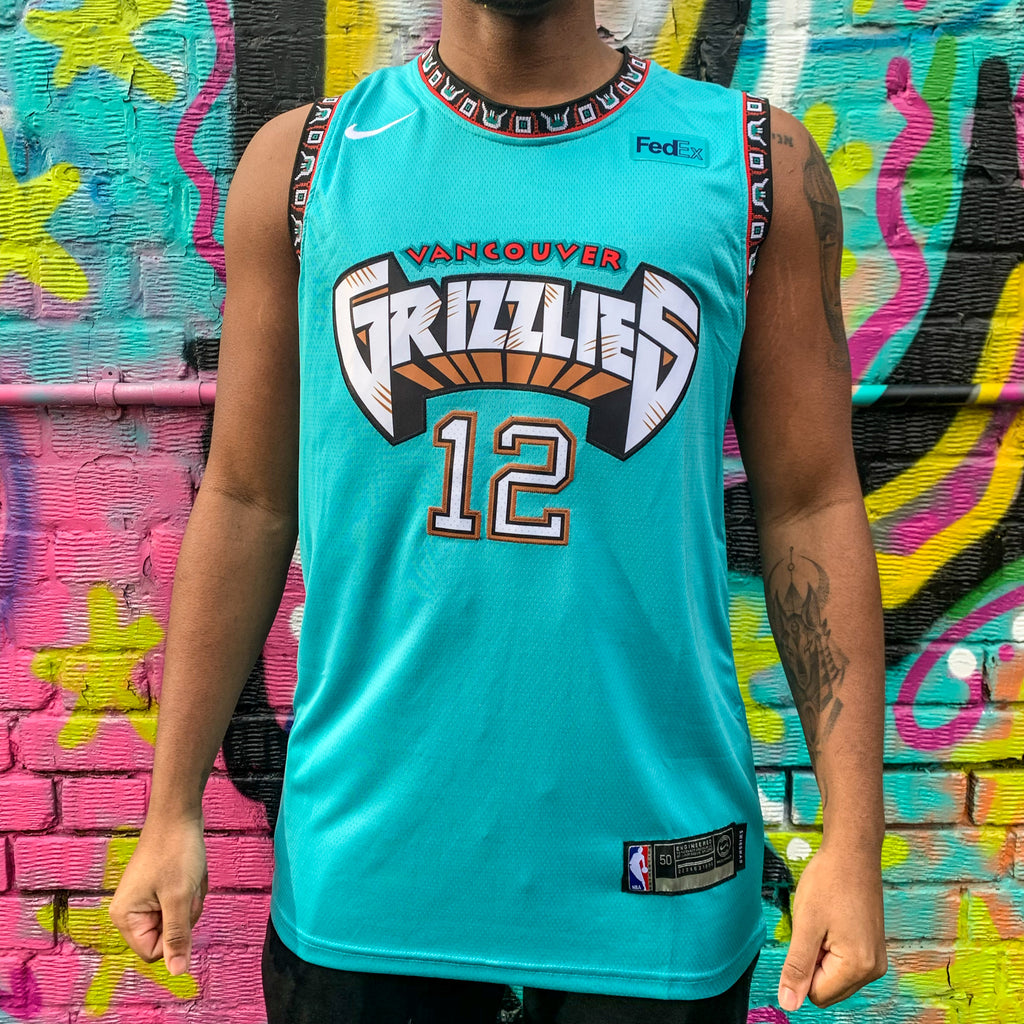 VANCOUVER GRIZZLIES GREEN BASKETBALL JERSEY - JAMEL MORANT 12