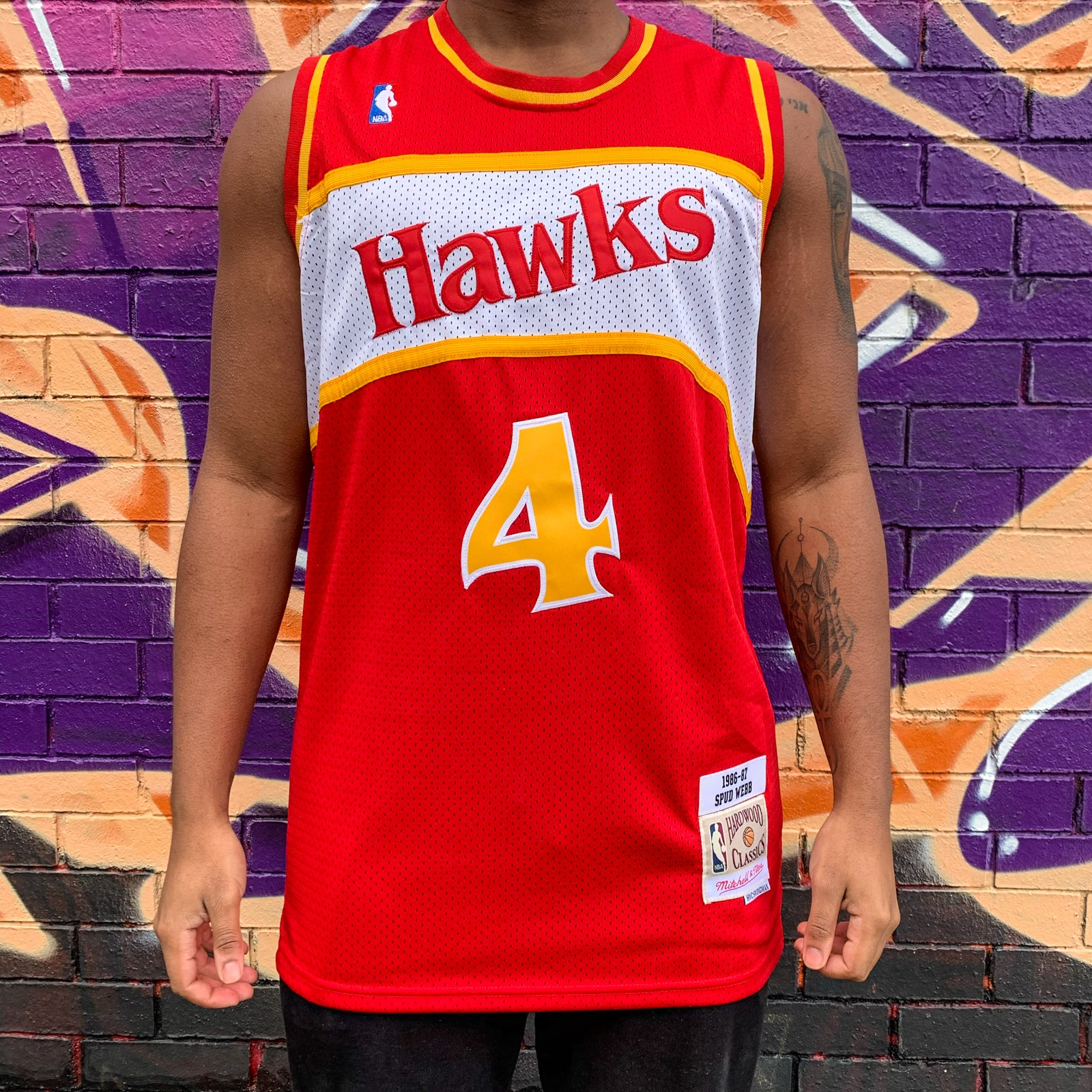 RETRO ATLANTA HAWKS RED BASKETBALL JERSEY - SPUB WEBB 4