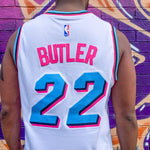 MIAMI HEAT MIAMI VICE EDITION WHITE BASKETBALL JERSEY - JIMMY BUTLER 22