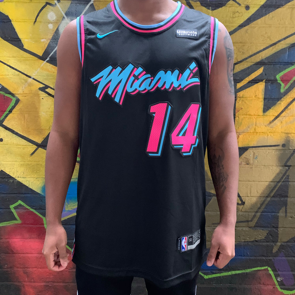 MIAMI HEAT MIAMI VICE EDITION BLACK BASKETBALL JERSEY - TYLER HERRO 14