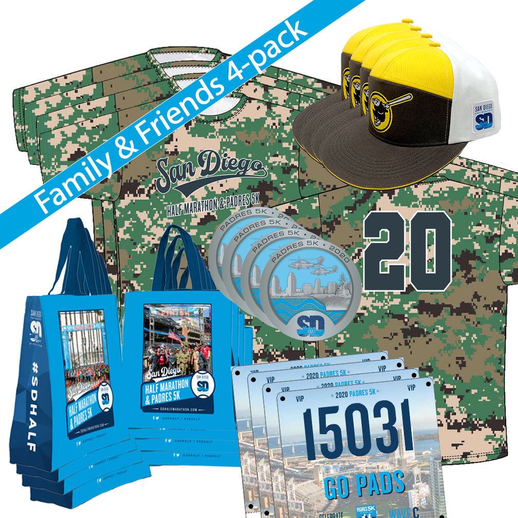 Family & Friends 4-pack: 2020 Virtual San Diego 5K