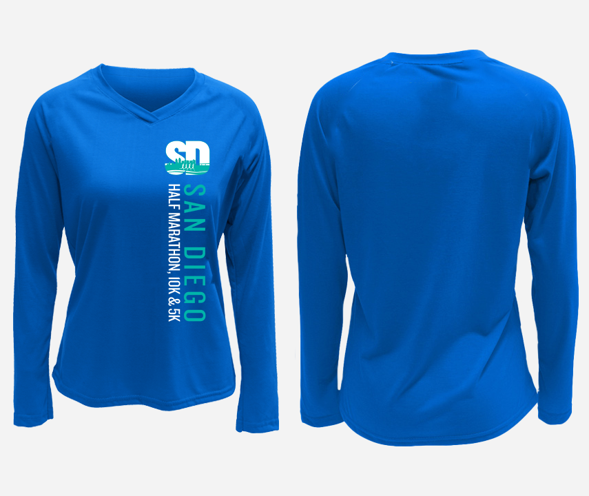 2021 San Diego Half Marathon Long Sleeve Training Shirt
