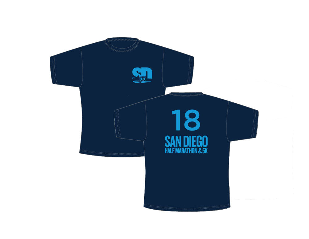 2018 San Diego Half Marathon Event Tech Shirt