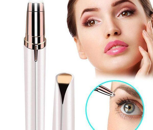 Painless electric eyebrow trimmer