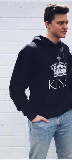 King and Queen Matching Couple Hooded Hoodies