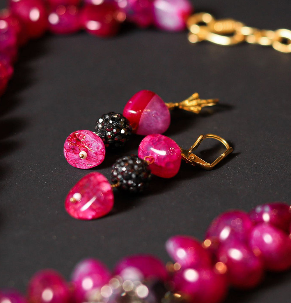 Pink Layered Necklace Set