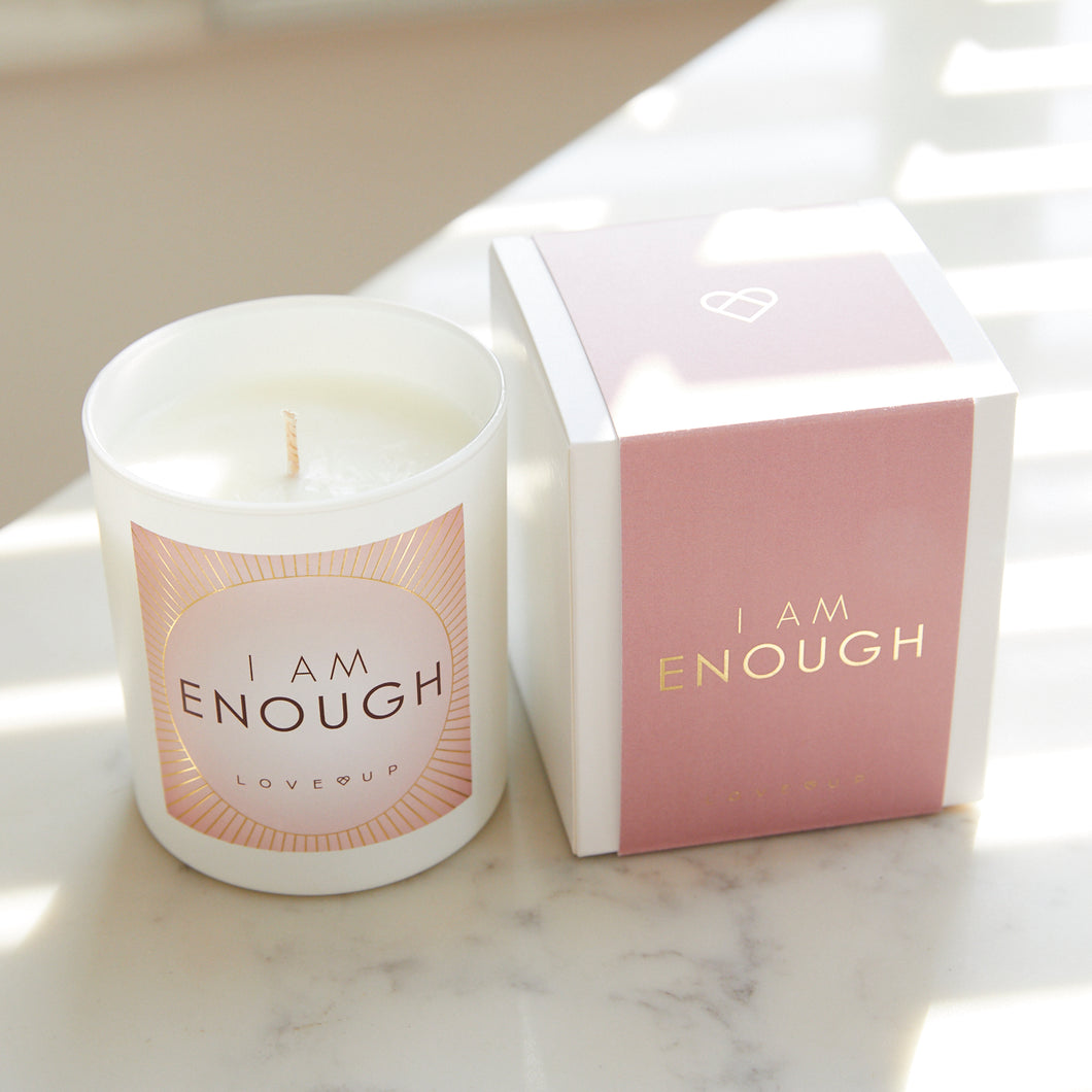 LOVE LIGHTS - Scented Candle - I AM ENOUGH