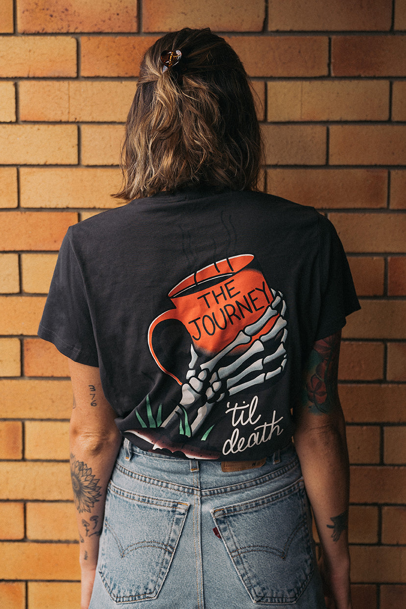 The Journey Womens Coal Tee