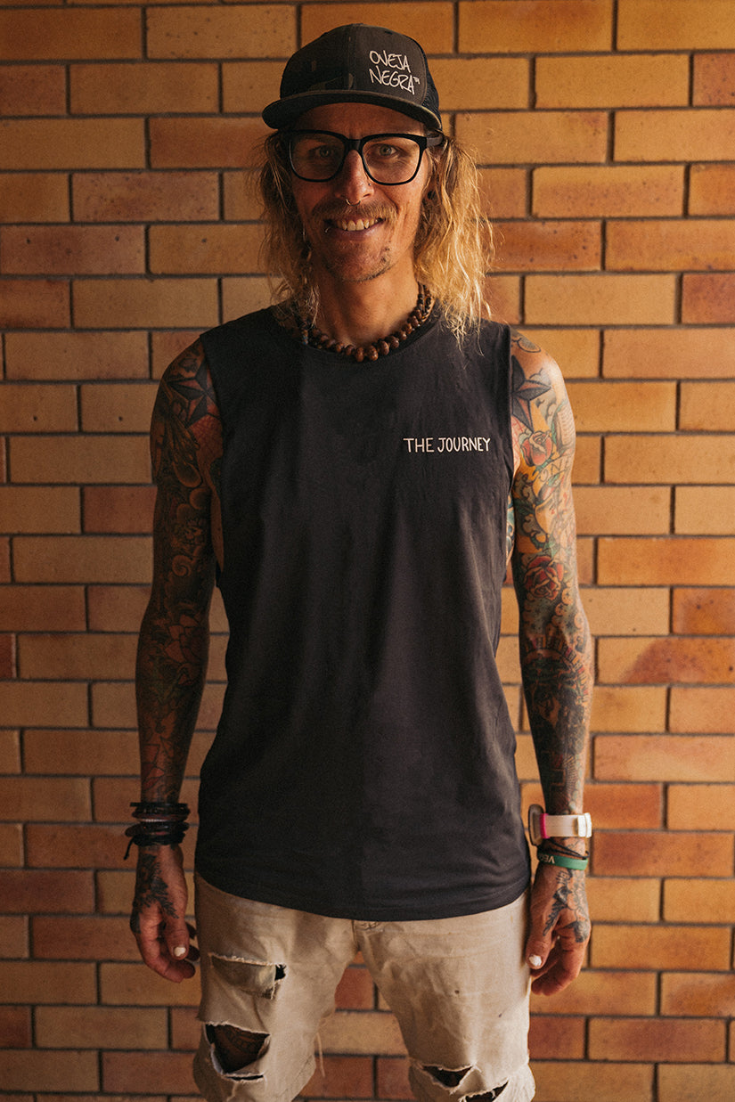 The Journey Sleeveless Coal Tee