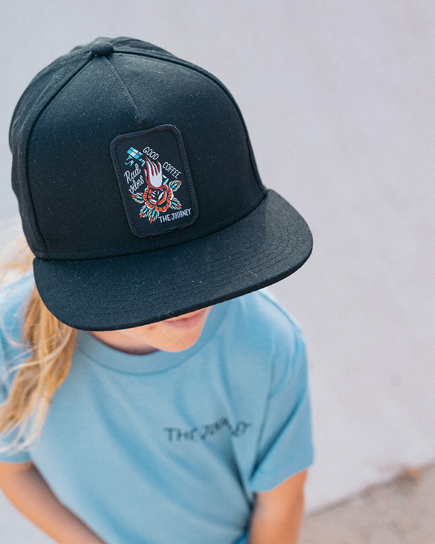 The Journey Baseball Cap with Flower Design
