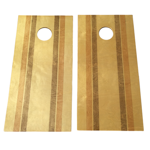 Modern Stained Stripe Cornhole Boards