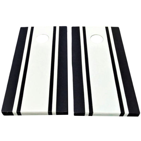 Modern Black & White Cornhole Boards