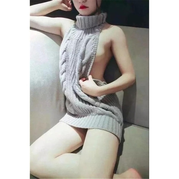 Killer sexy sleeveless turtle neck knitted sweater assortment