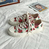 Strawberry Print Canvas Sneakers