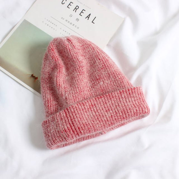 knitted wool beanies