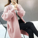 2020 fall open stitch knit sweater cardigan