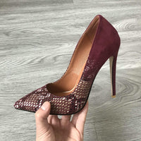 Sexy Stilettos pointed Toe Shoes (Nude Red Blue Black Beige Leopard )