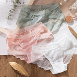 3pcs Sexy Low-rise Lace Panties