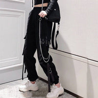 Chain and buckle cargo joggers