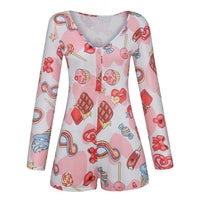 assorted print long sleeve rompers