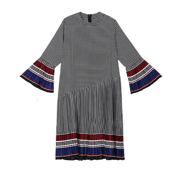 cotton loose fitting Pleated Dress