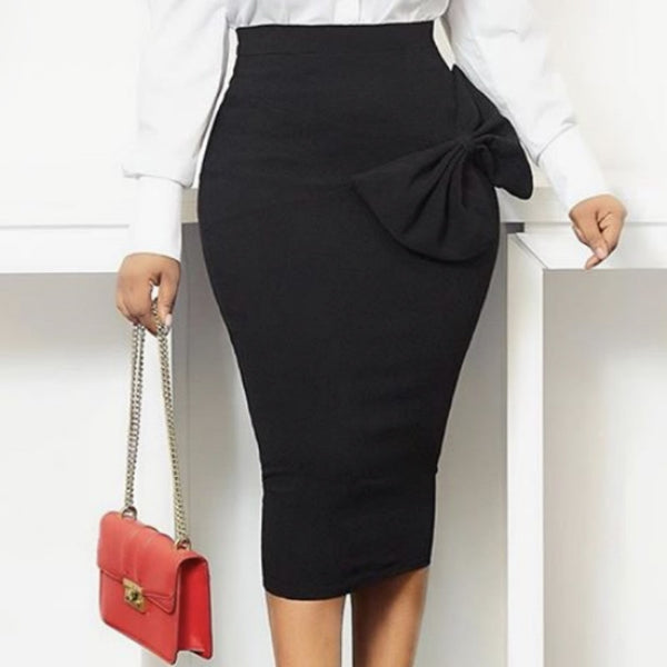Black High Waist Bodycon Pencil skirts